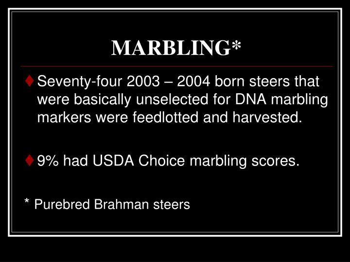 MARBLING*
