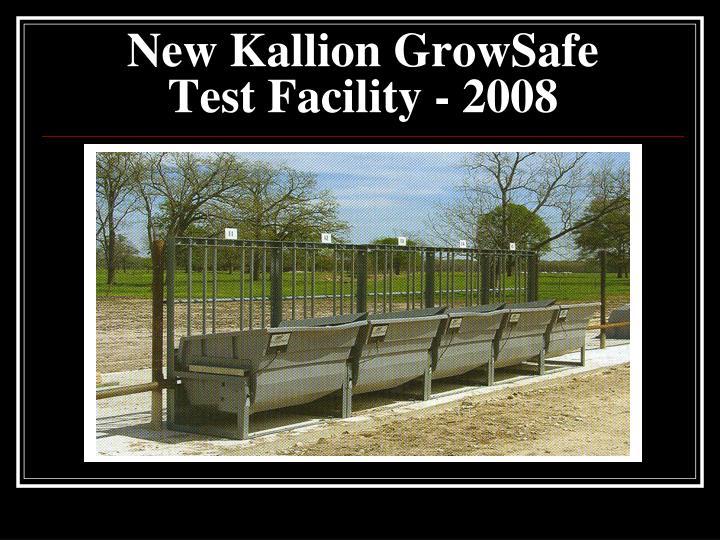 New Kallion GrowSafe