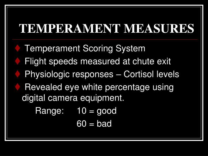 TEMPERAMENT MEASURES