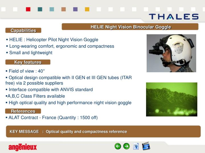 HELIE Night Vision Binocular Goggle