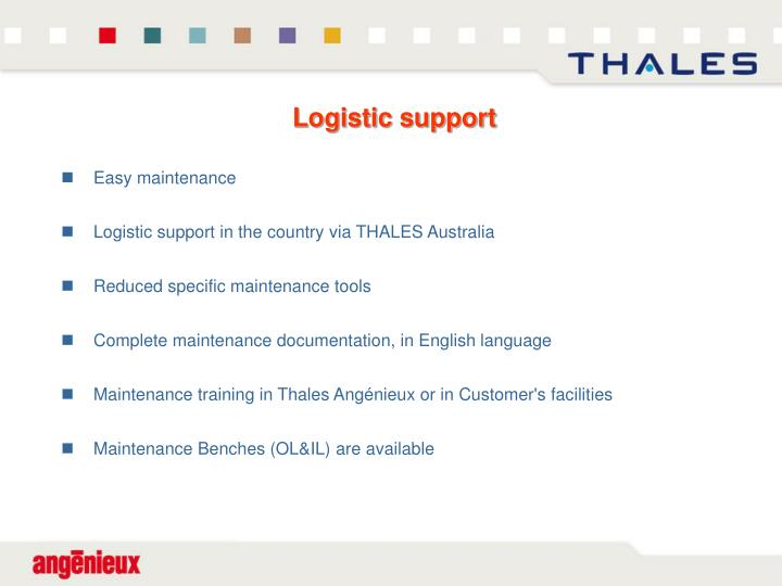 Logistic support