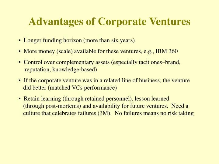 Advantages of Corporate Ventures