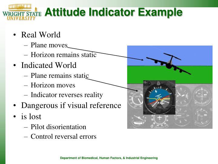 Attitude Indicator Example