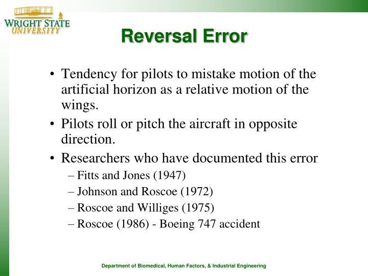 Reversal Error