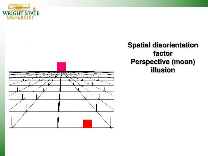 Spatial disorientation factor
