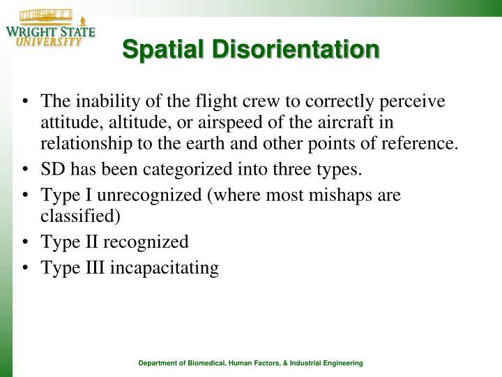 Spatial Disorientation