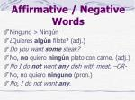 affirmative negative words2