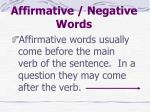 affirmative negative words3