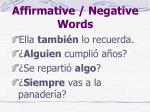 affirmative negative words4