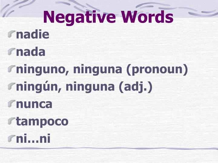 Negative Words