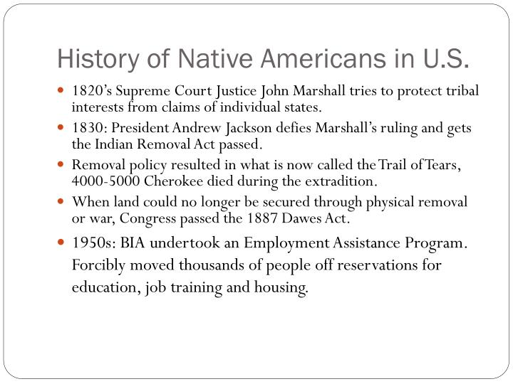 History of Native Americans in U.S.