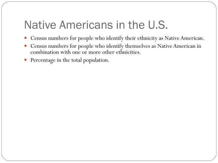 Native Americans in the U.S.