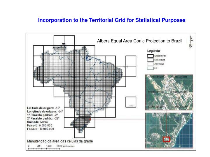 Incorporation to the Territorial Grid for Statistical Purposes