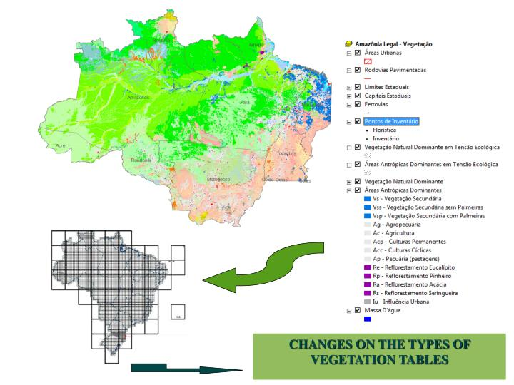CHANGES ON THE TYPES OF VEGETATION TABLES