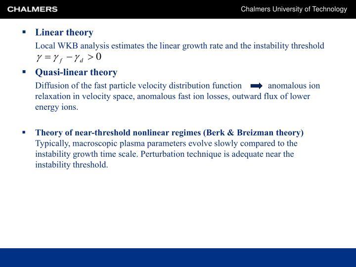 Linear theory