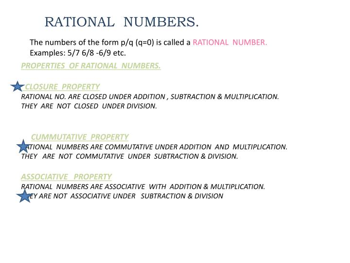 RATIONAL  NUMBERS.