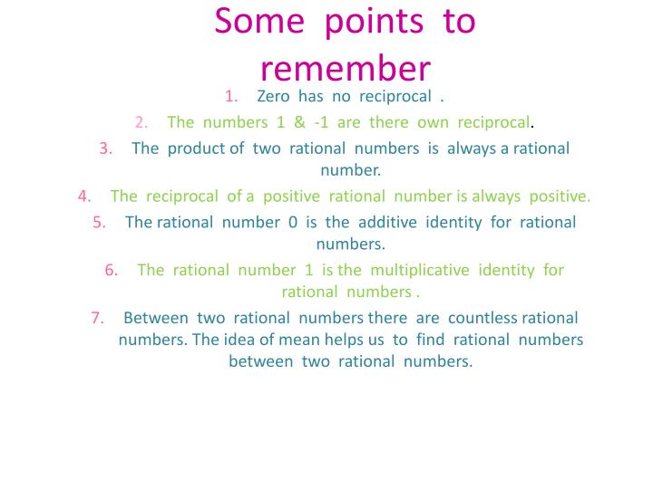 Some  points  to  remember