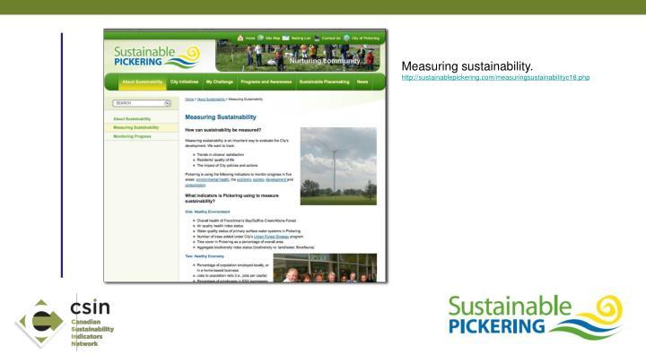 Measuring sustainability.
