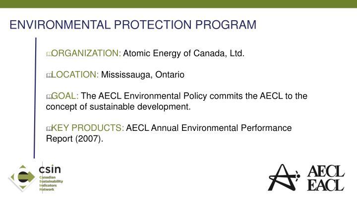 ENVIRONMENTAL PROTECTION PROGRAM