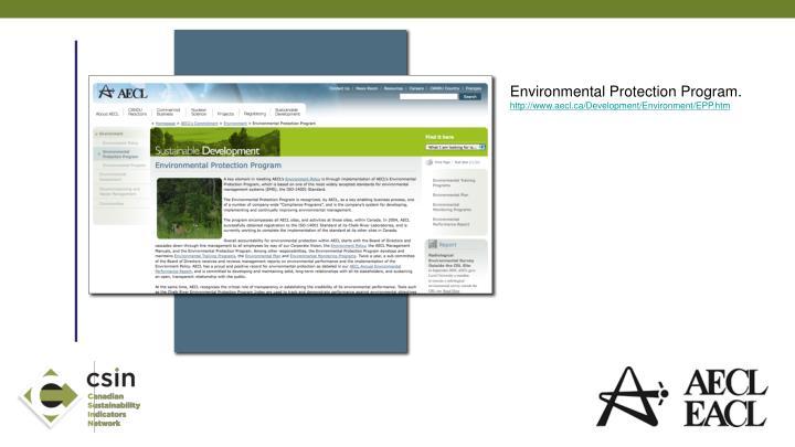 Environmental Protection Program.