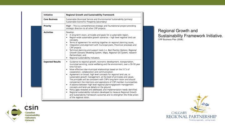 Regional Growth and Sustainability Framework Initiative.