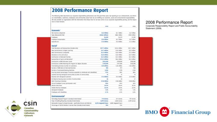 2008 Performance Report
