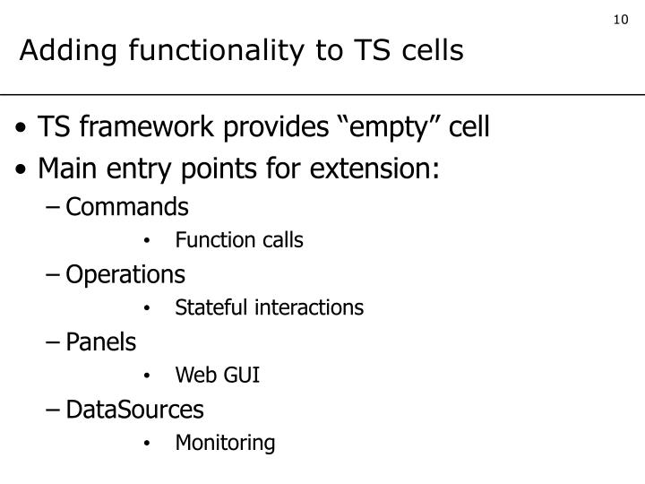 Adding functionality to TS cells