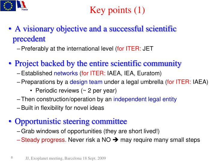 Key points (1)