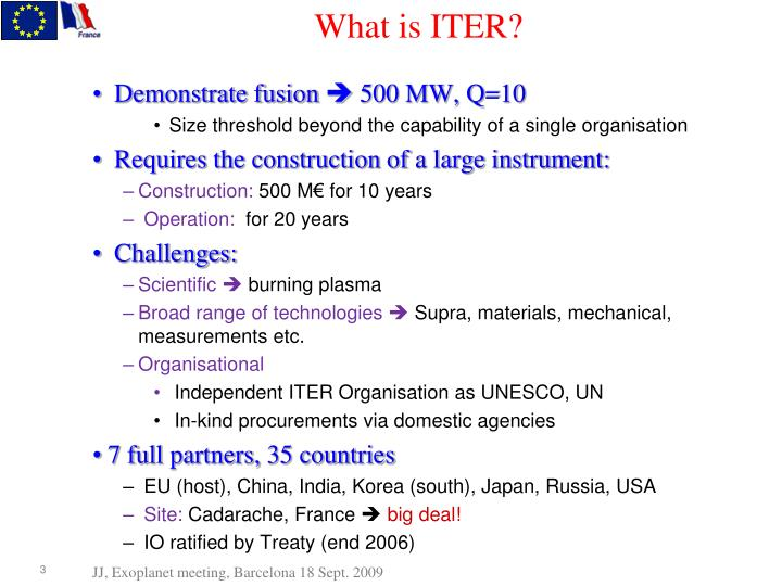 What is iter