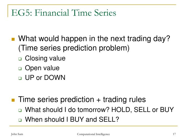 EG5: Financial Time Series