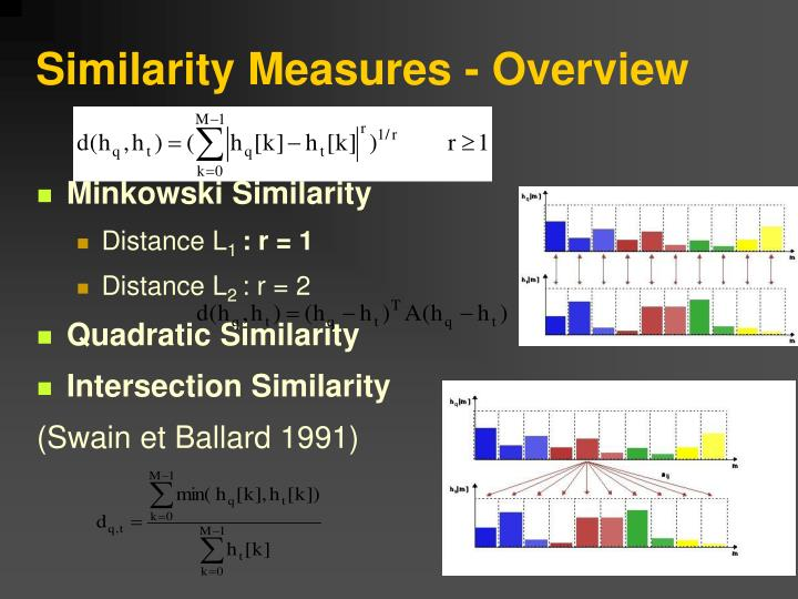 Similarity Measures - Overview