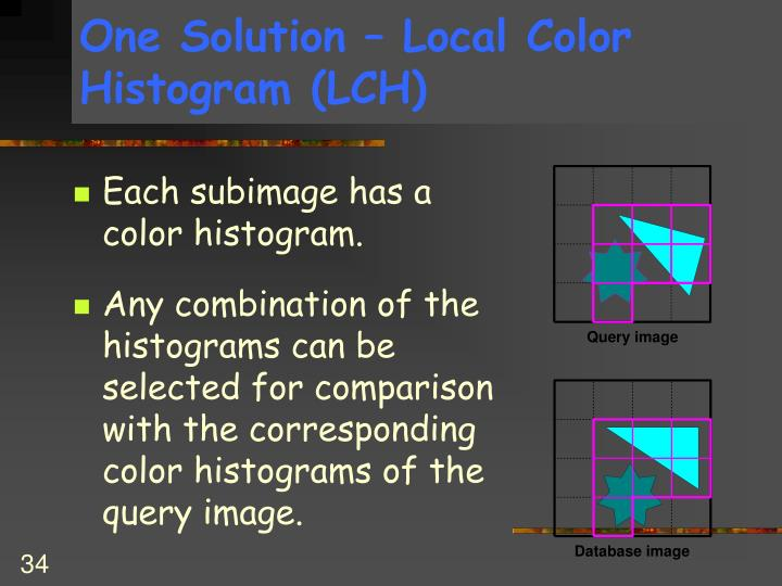 One Solution – Local Color Histogram (LCH)