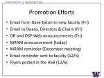 promotion efforts