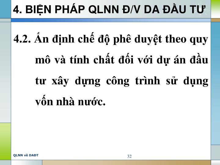 4. BIỆN PHÁP QLNN Đ/V DA ĐẦU TƯ