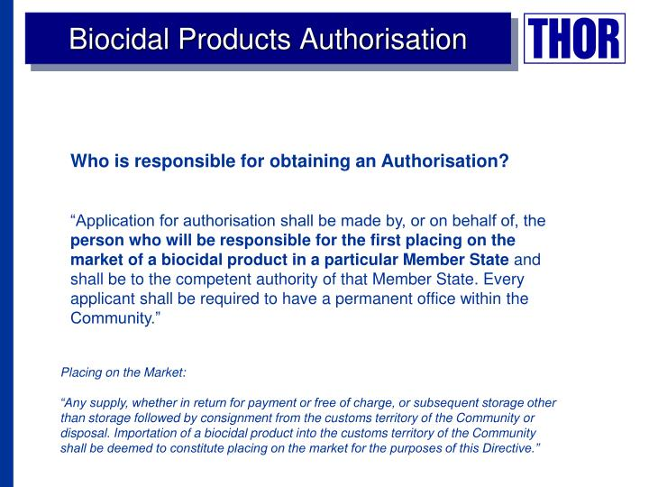Biocidal Products Authorisation