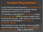content requirement