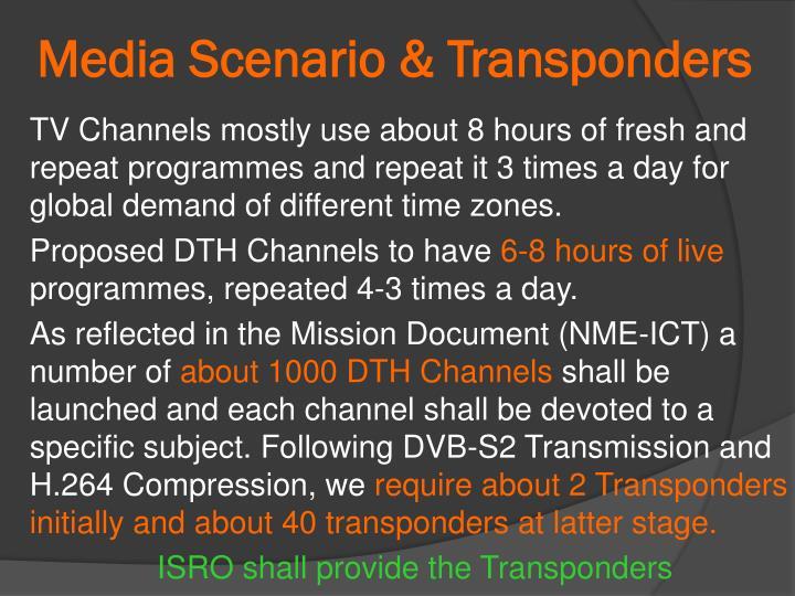 Media Scenario & Transponders