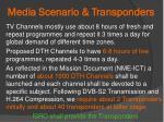 media scenario transponders