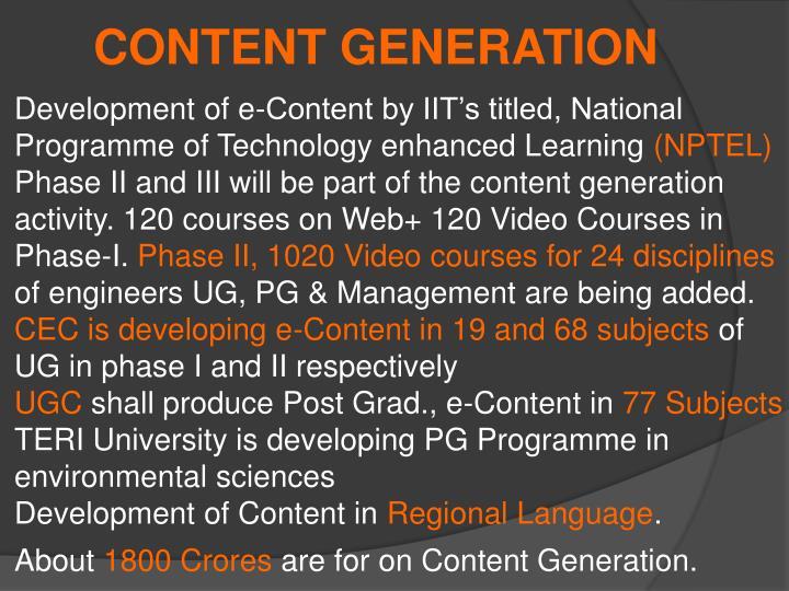 CONTENT GENERATION