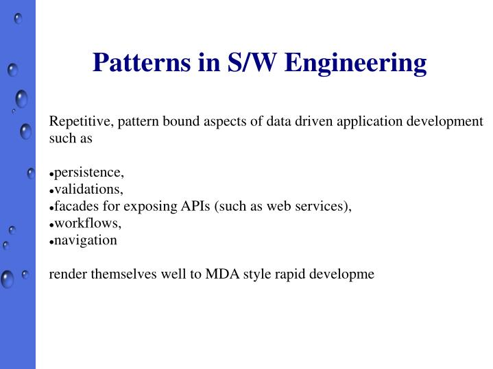 Patterns in S/W Engineering