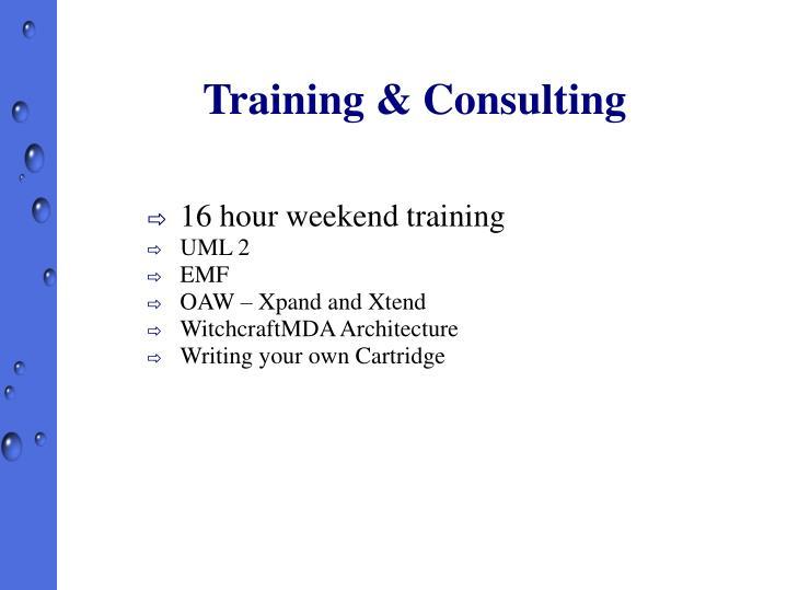 Training & Consulting