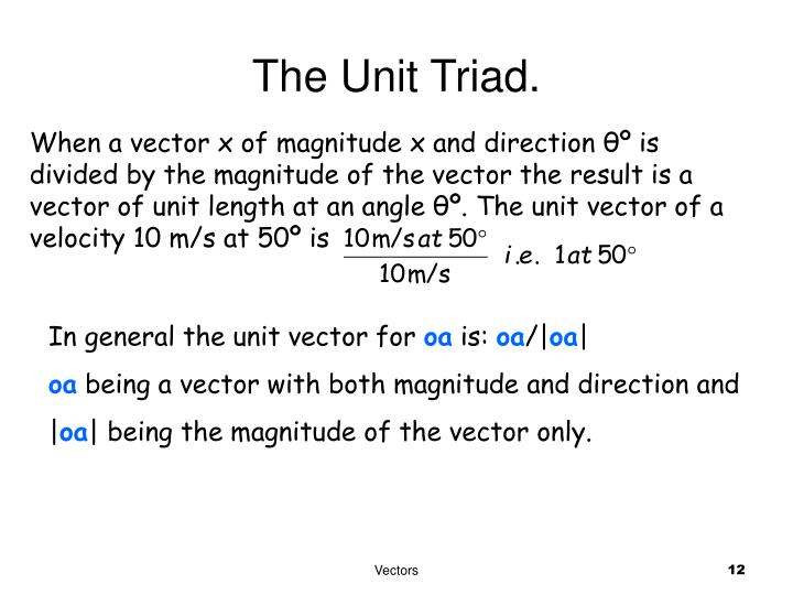 The Unit Triad.