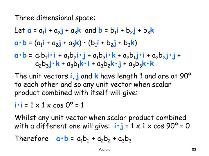 Three dimensional space: