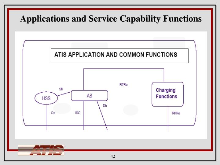 Applications and Service Capability Functions