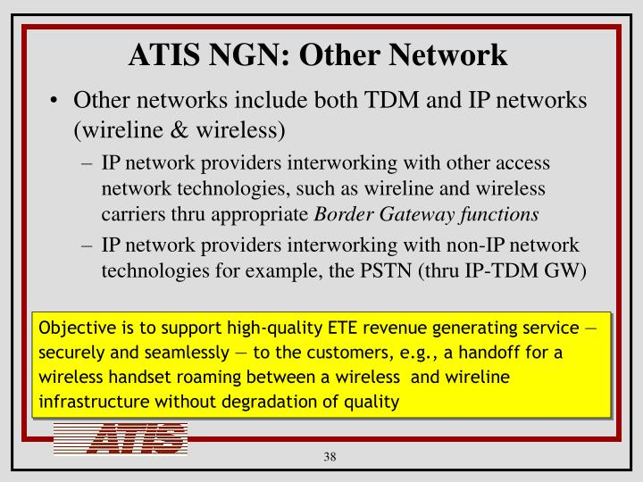 ATIS NGN: Other Network