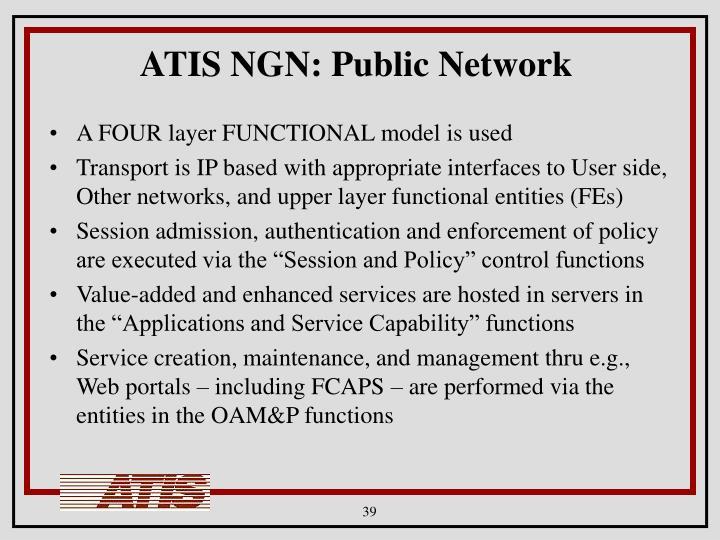 ATIS NGN: Public Network