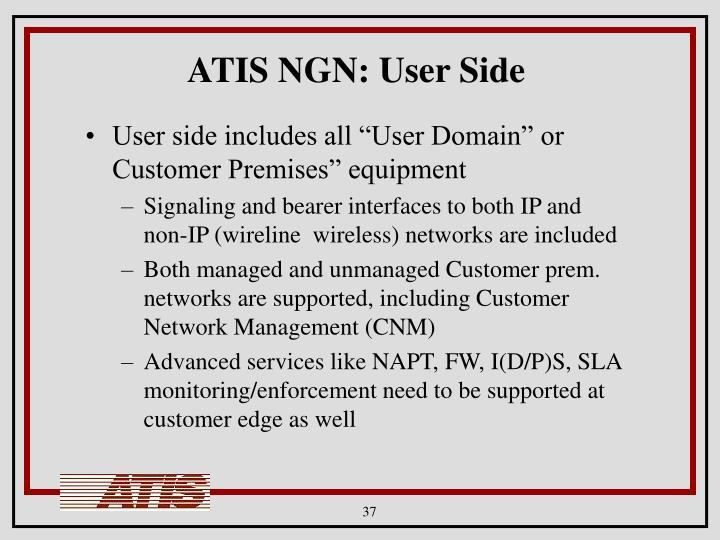 ATIS NGN: User Side