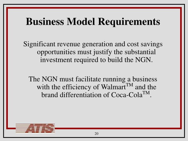 Business Model Requirements