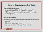general requirements services