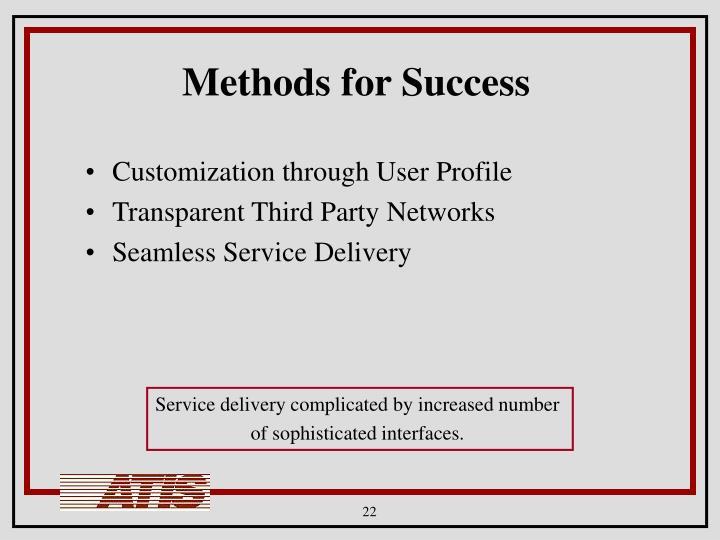Methods for Success